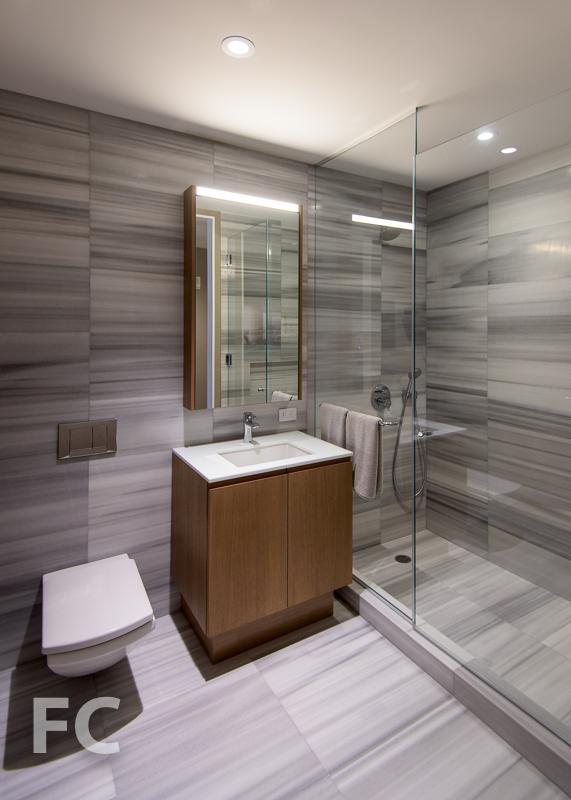 Secondary bathroom mockup .