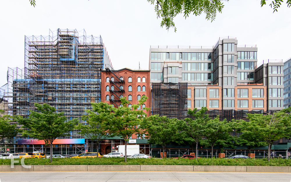 West facade from the Hudson River Greenway.