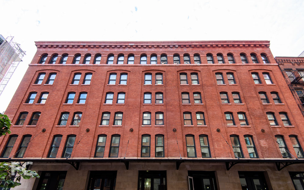West façade from Washington Street.