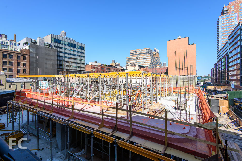 Northeast corner of the site from the High Line.