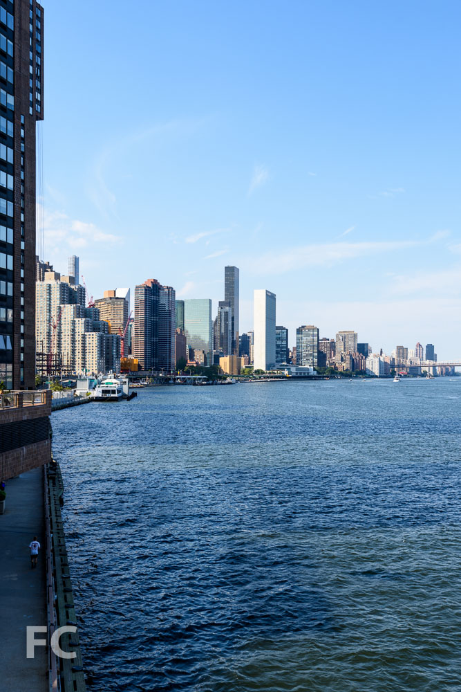 The East River waterfront with 626 First Avenue rising on the far left.