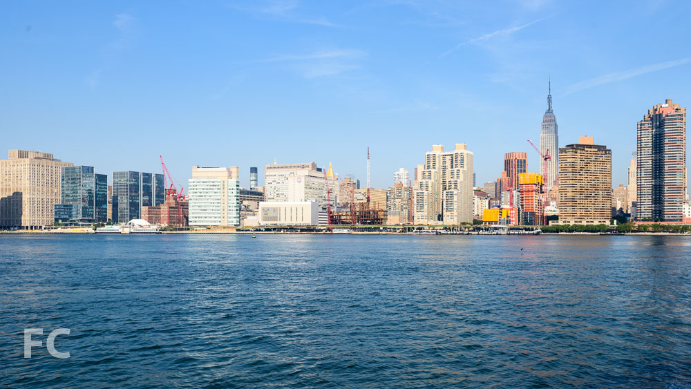 The East River waterfront with 626 First Avenue rising on the far right.