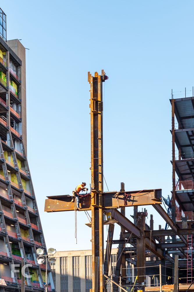 Superstructure underway on 30 Hudson Yards.