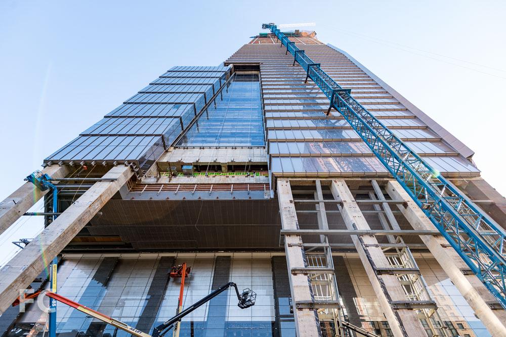 South façade of 10 Hudson Yards.