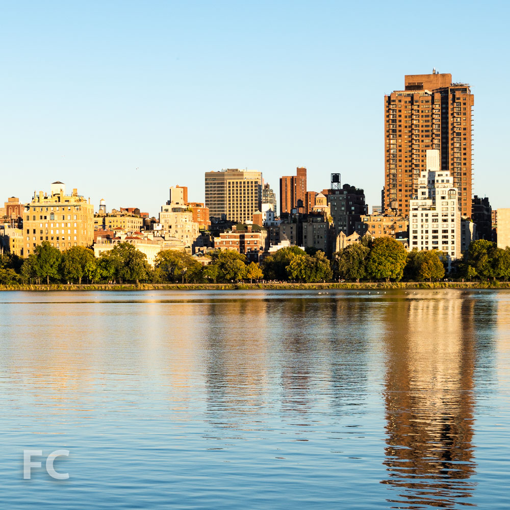 205 East 92nd Street in the Upper East Side skyline from the Central Park Reservoir.