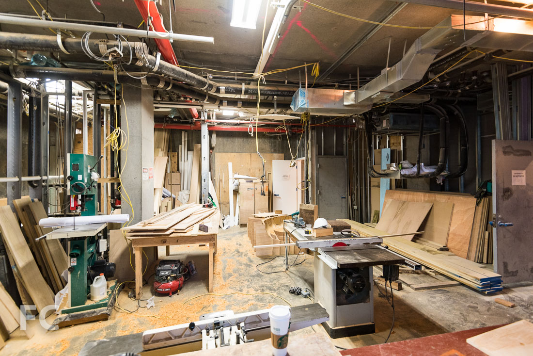 Ground floor construction workshop.