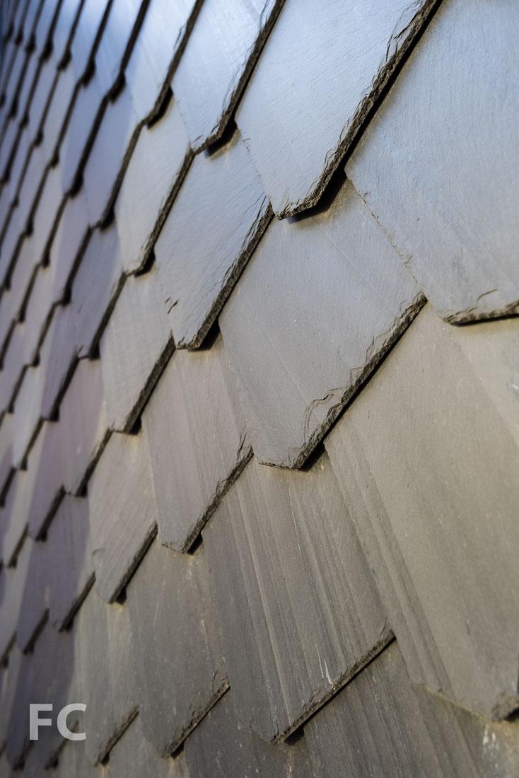 Slate shingle detail.