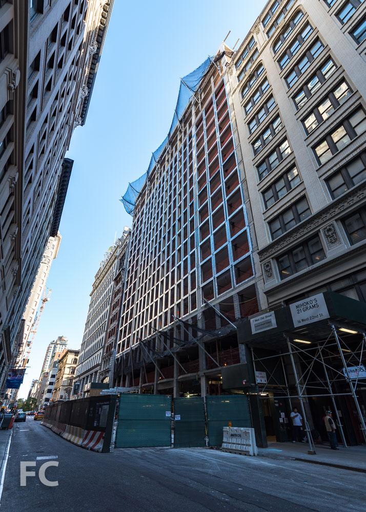 Northwest corner of the West 22nd Street tower.