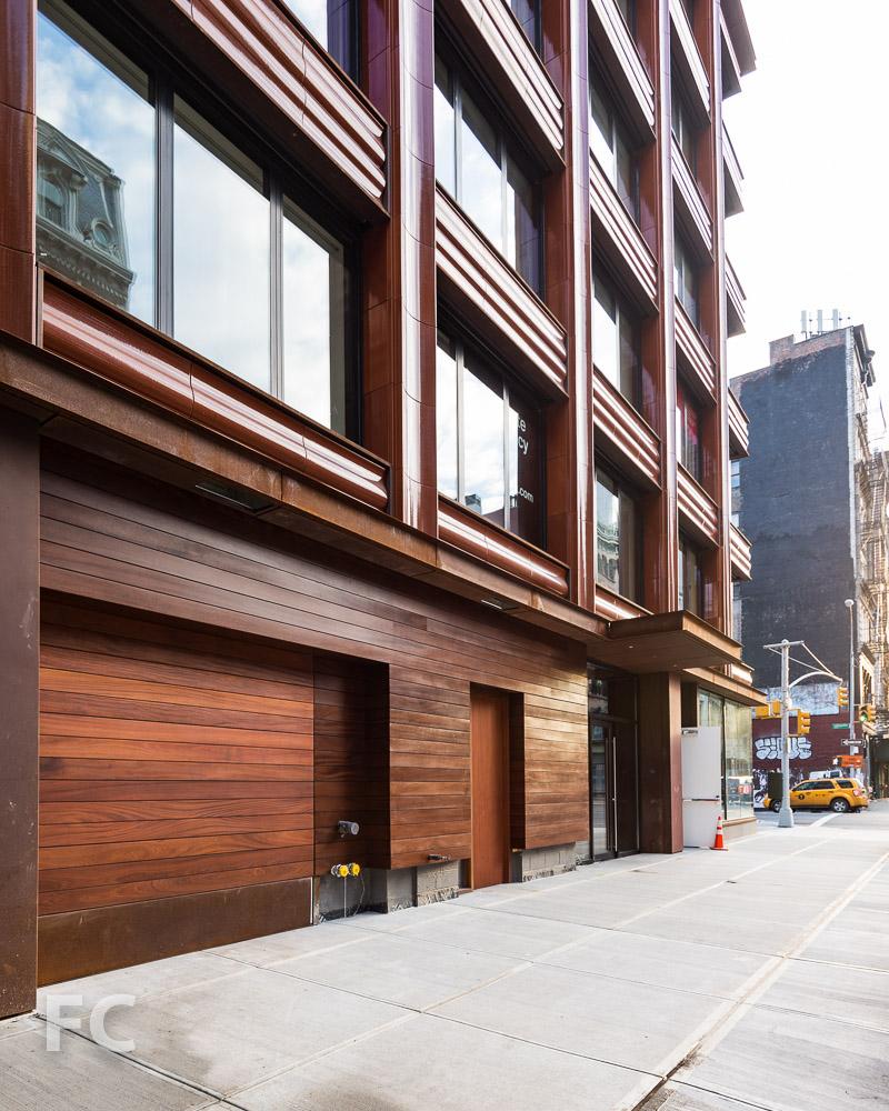Residential entry off of Bond Street.