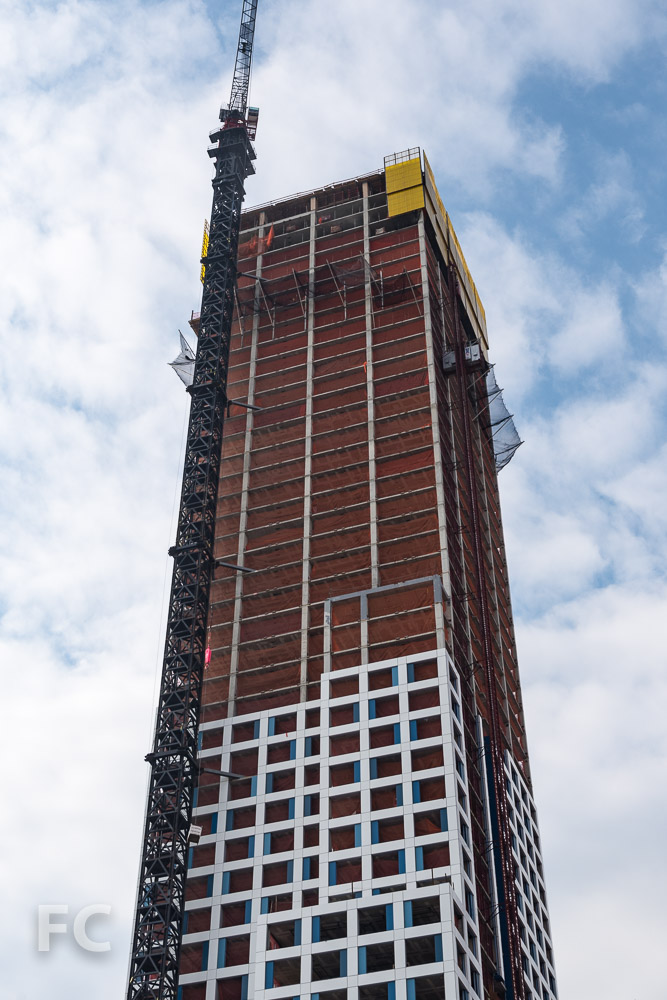 Northeast corner of the phase one tower.