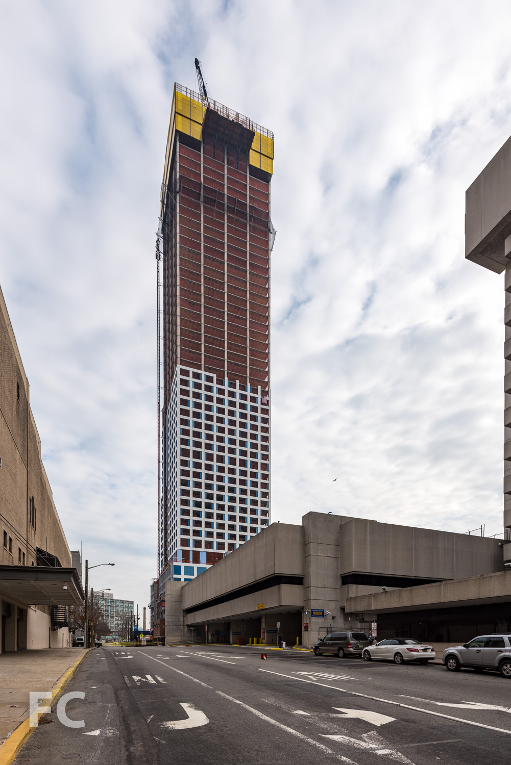 Northwest corner of the phase one tower from Pavonia Avenue.