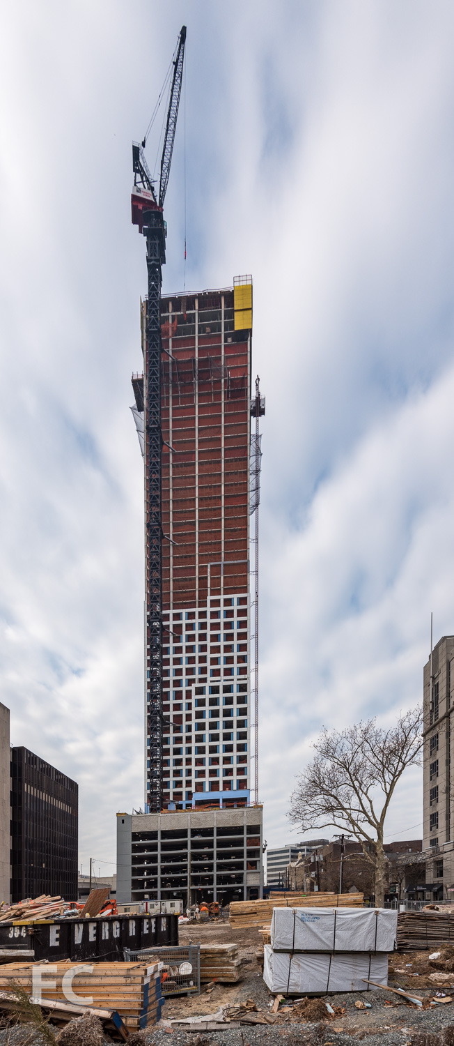 East facade of the phase one tower.