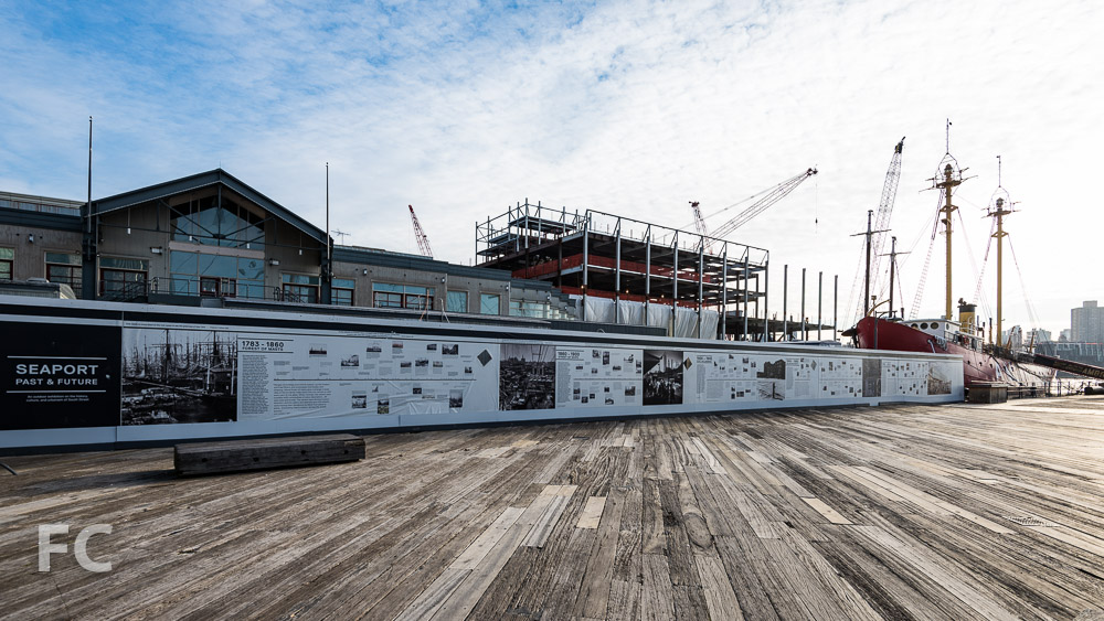 South facade of Pier 17's new retail building.