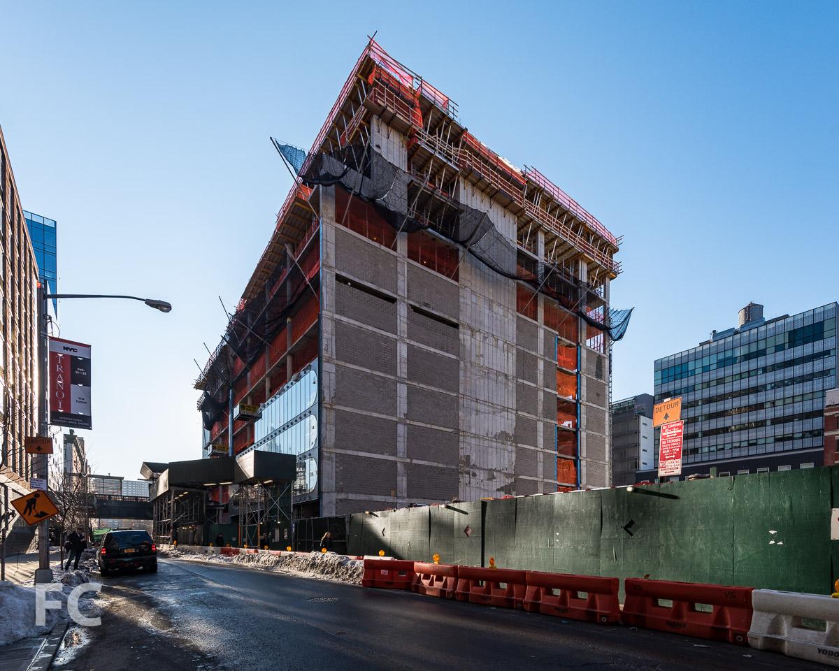 Northwest corner from West 28th Street.