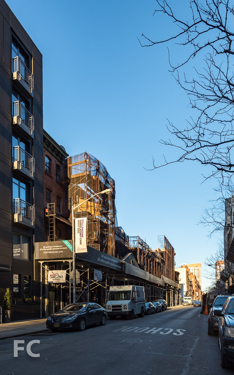 North facade from West 52nd Street.