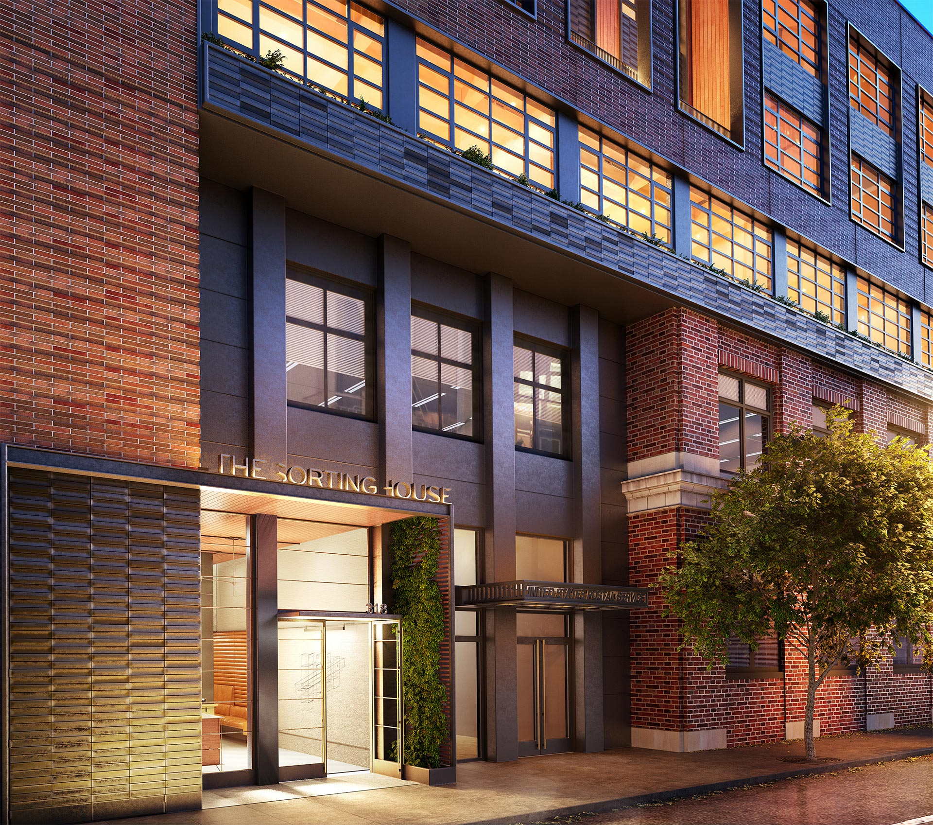 New residential entry at West 52nd Street. Rendering courtesy of Wordsearch.