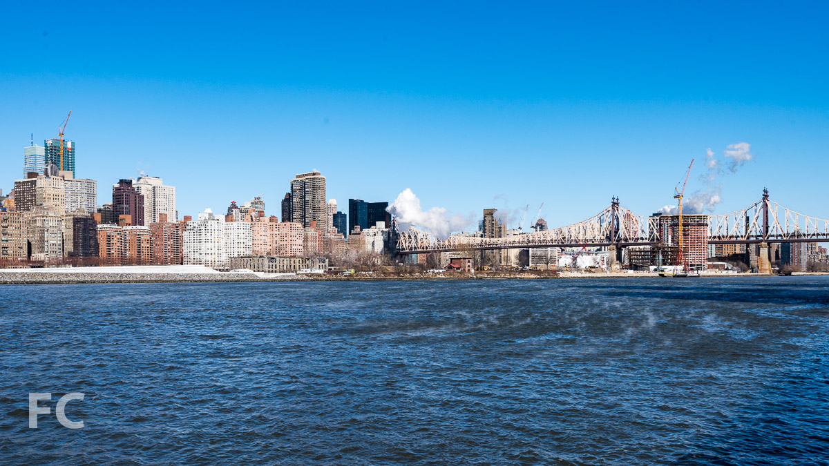 Looking north towards the Cornell Tech Campus from the Long Island City waterfront.