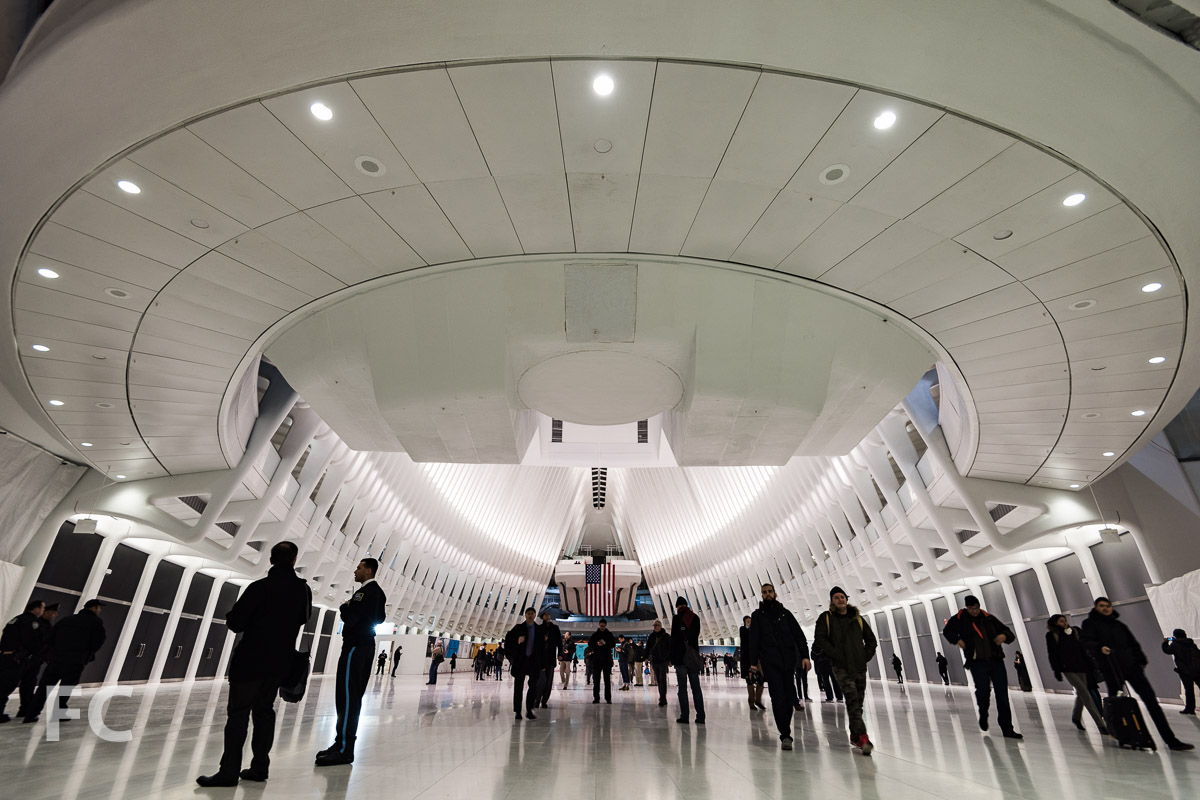 Looking east towards the Transit Hall.