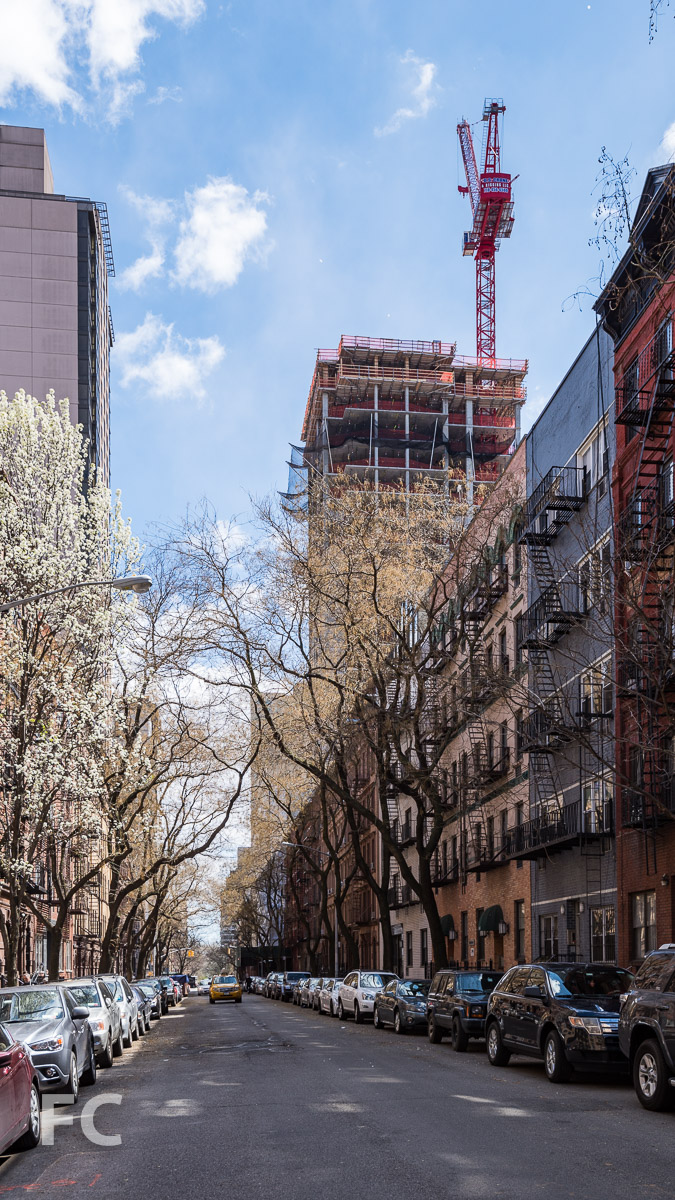 West facade from East 89th Street.