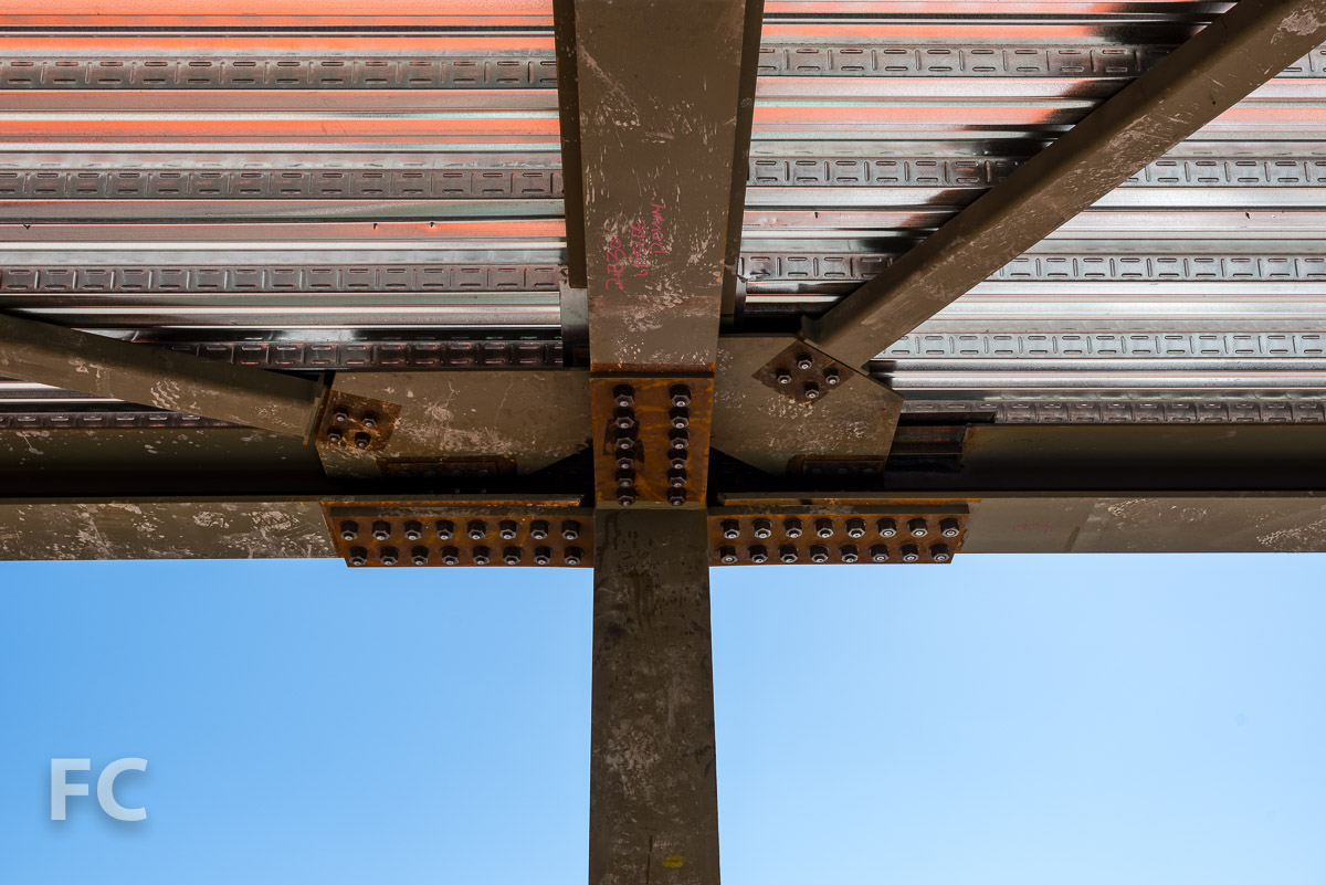 Skybridge structure detail.