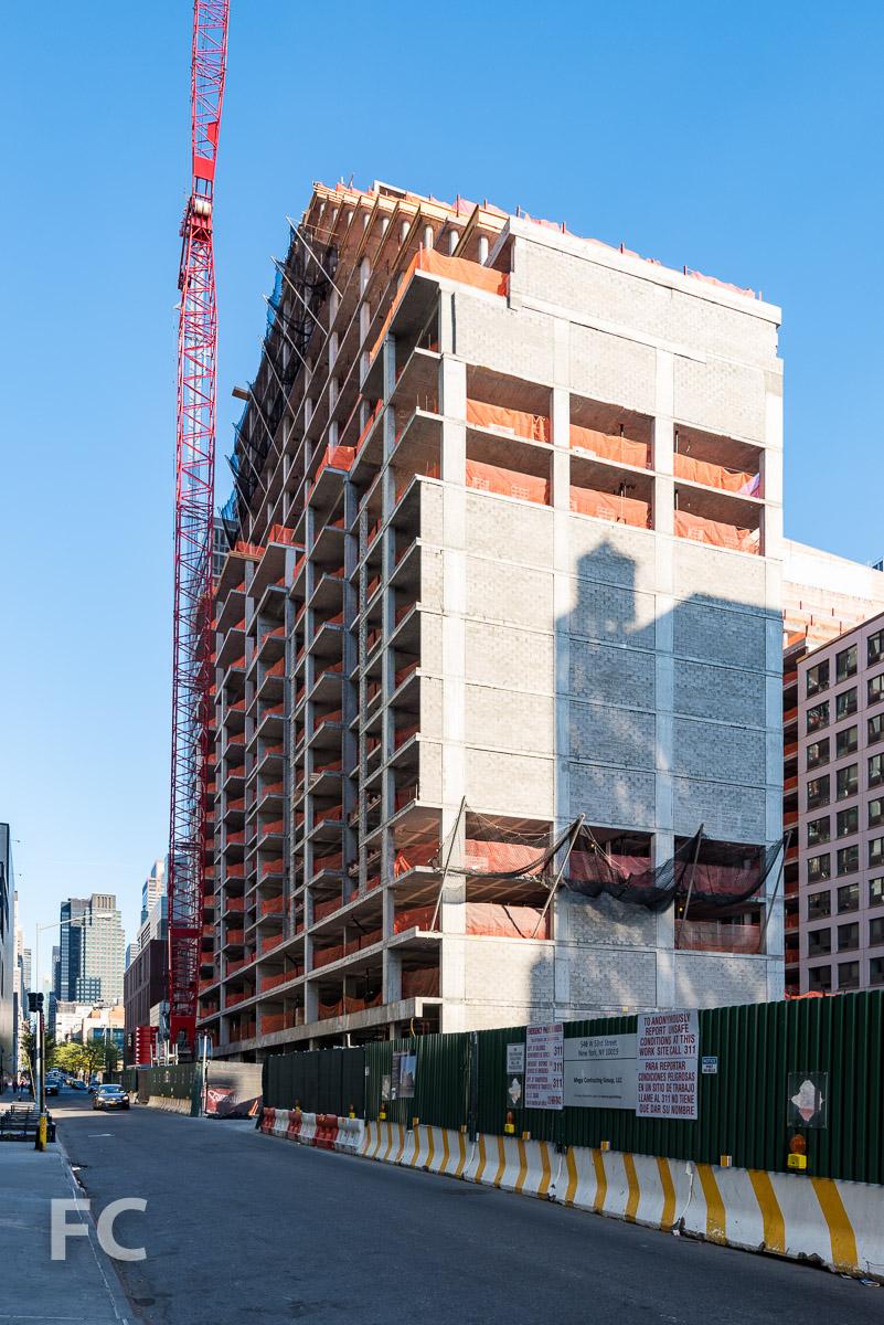 Northwest corner from West 53rd Street.