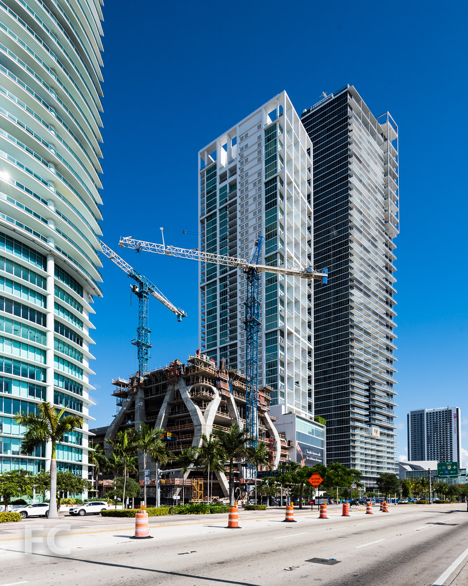Southeast corner from Biscayne Boulevard.
