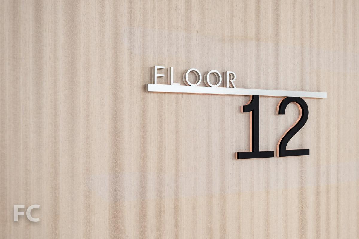 Hotel floor signage.