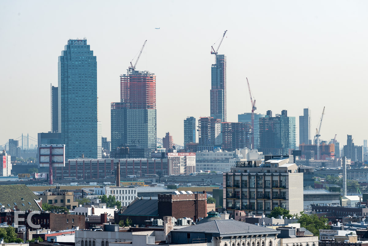 View of Long Island City from the private balcony.