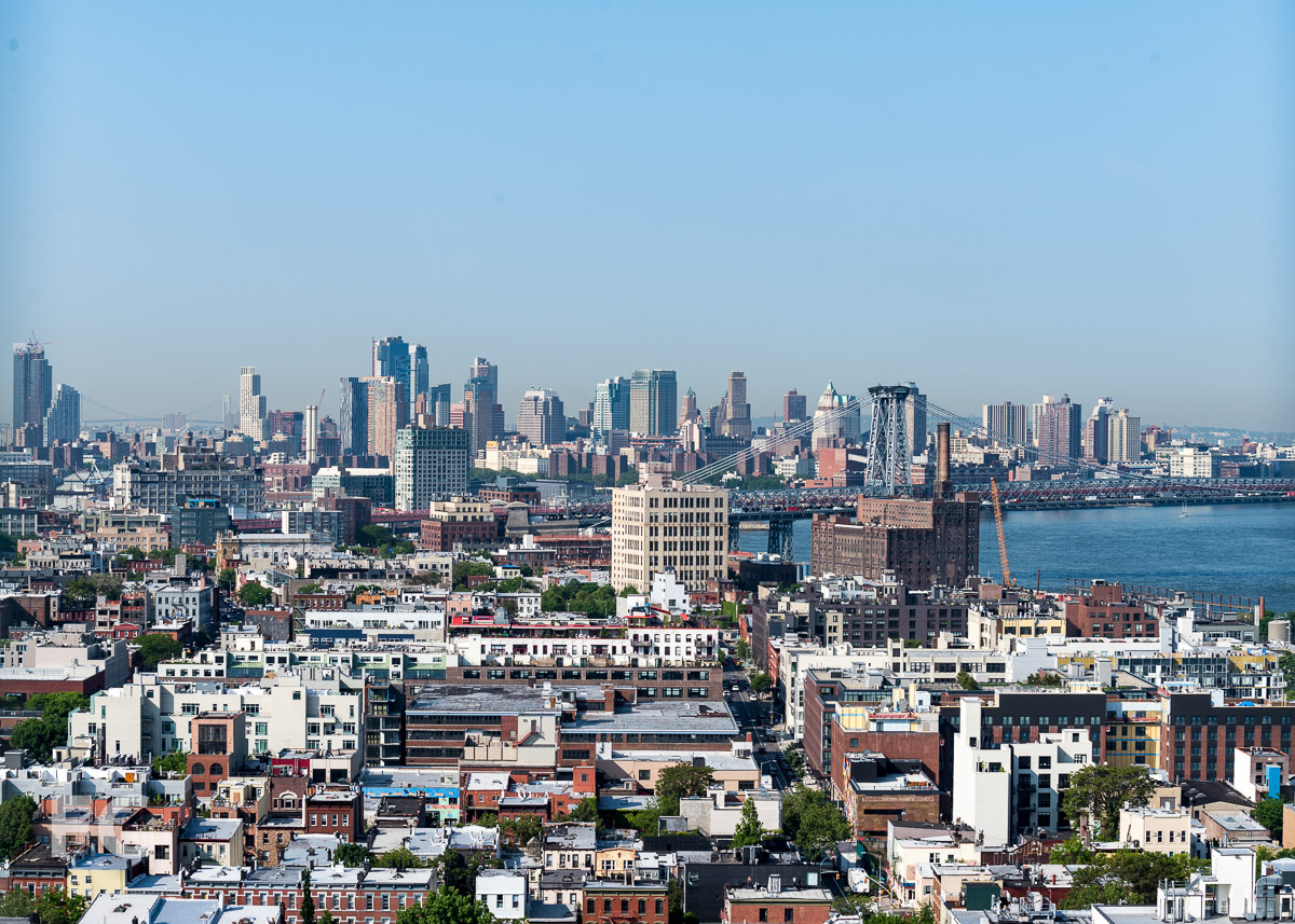 View of Brooklyn from the outdoor event space.