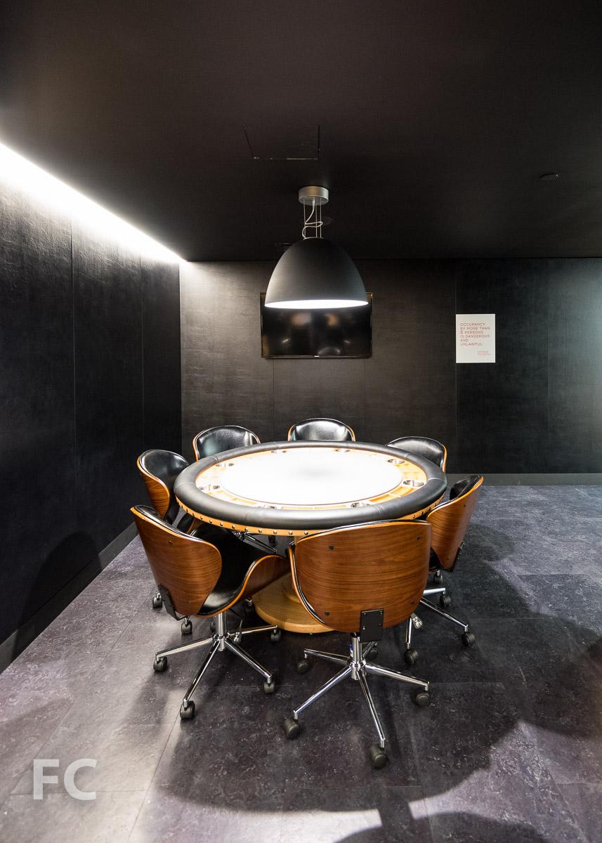 Poker room.