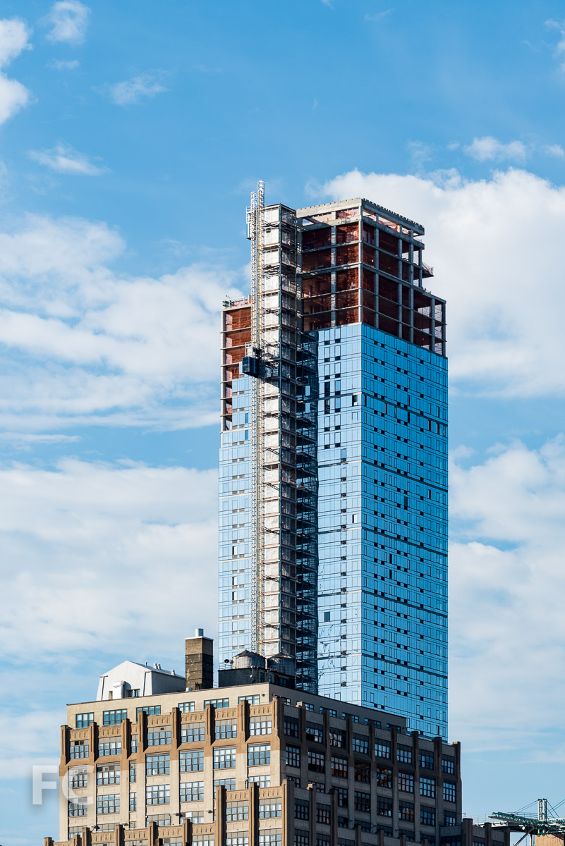 Upper tower of 401 West 31st Street.