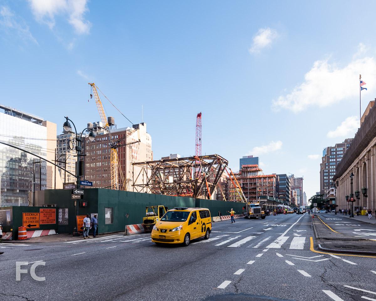 Southeast corner of the development.
