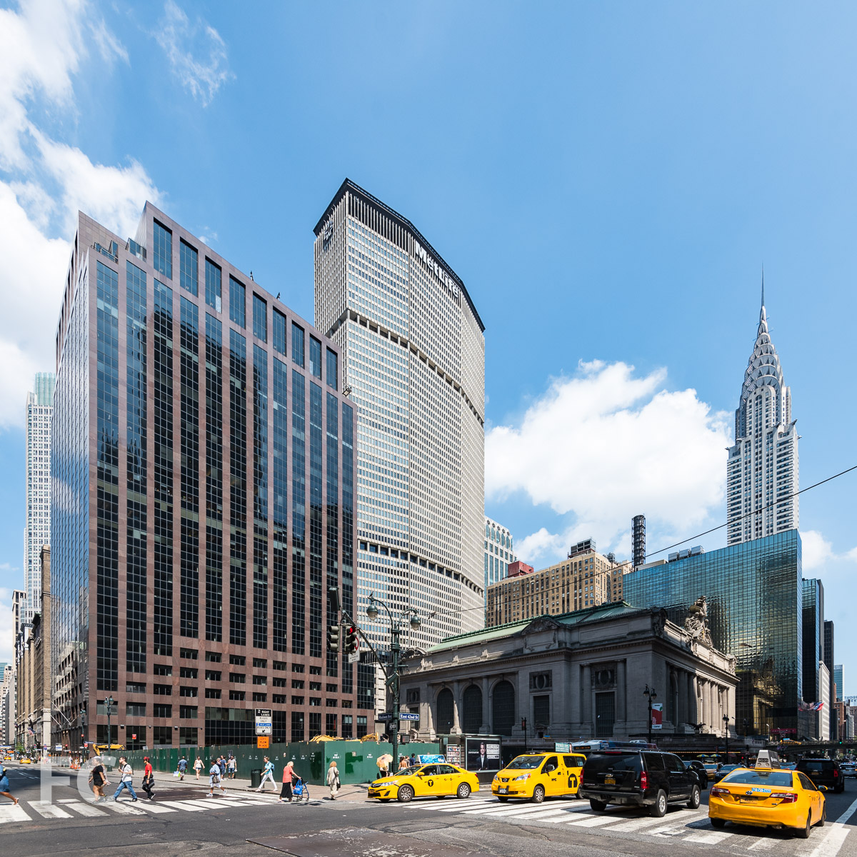 Southwest corner of the site at East 42nd Street and Madison Avenue.