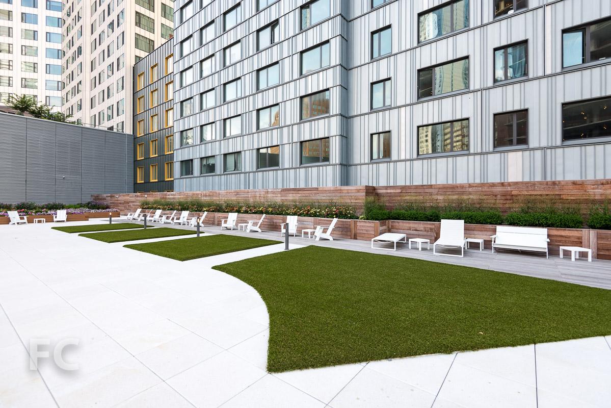 Lower residential terrace.
