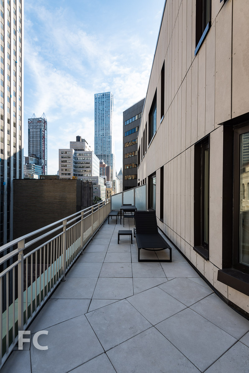 Private residential terrace.