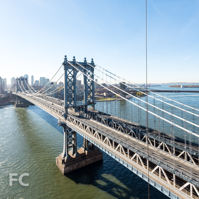 View of Manhattan Bridge from the residential tower.