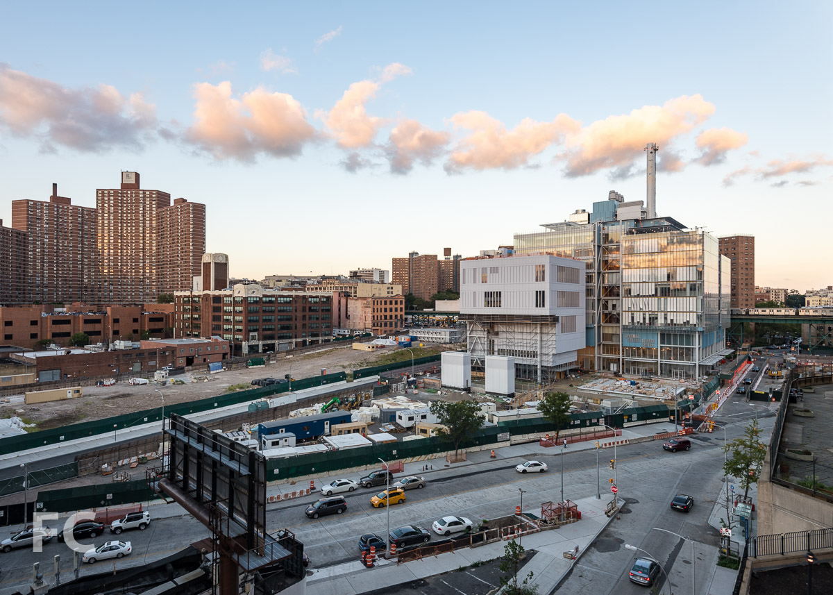Looking east towards the Manhattanville Expansion campus.