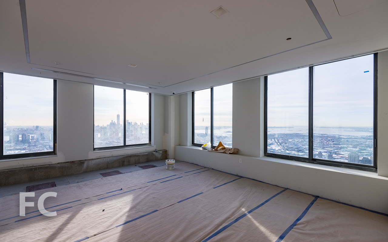 Future home of the sky lounge on the 53rd floor.