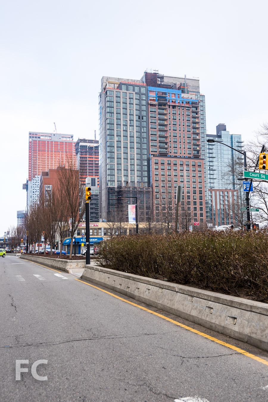 Looking east along Jackson Avenue.