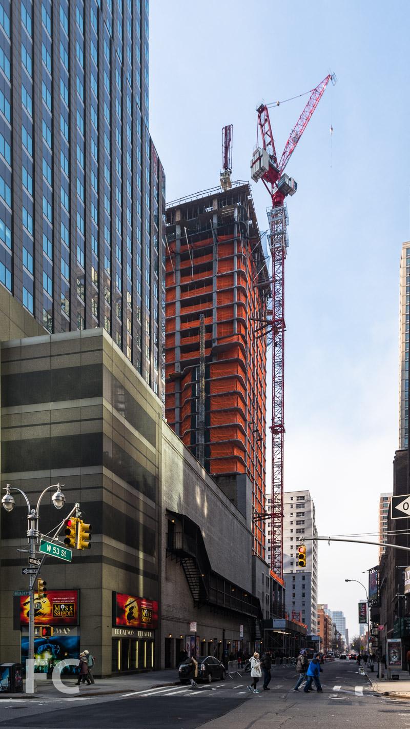 Northeast corner from Broadway.