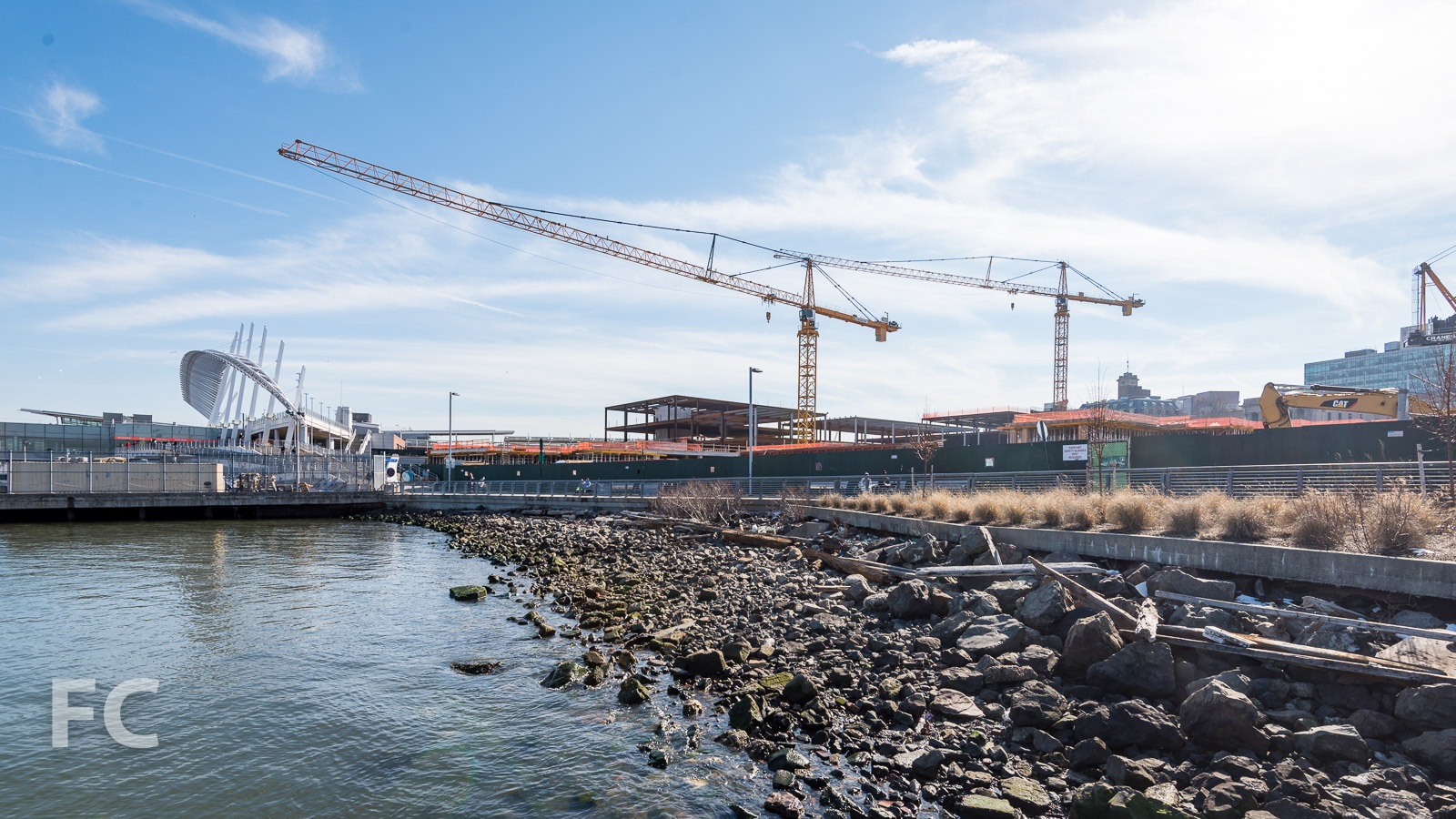 View of the Empire Outlets site from the west.
