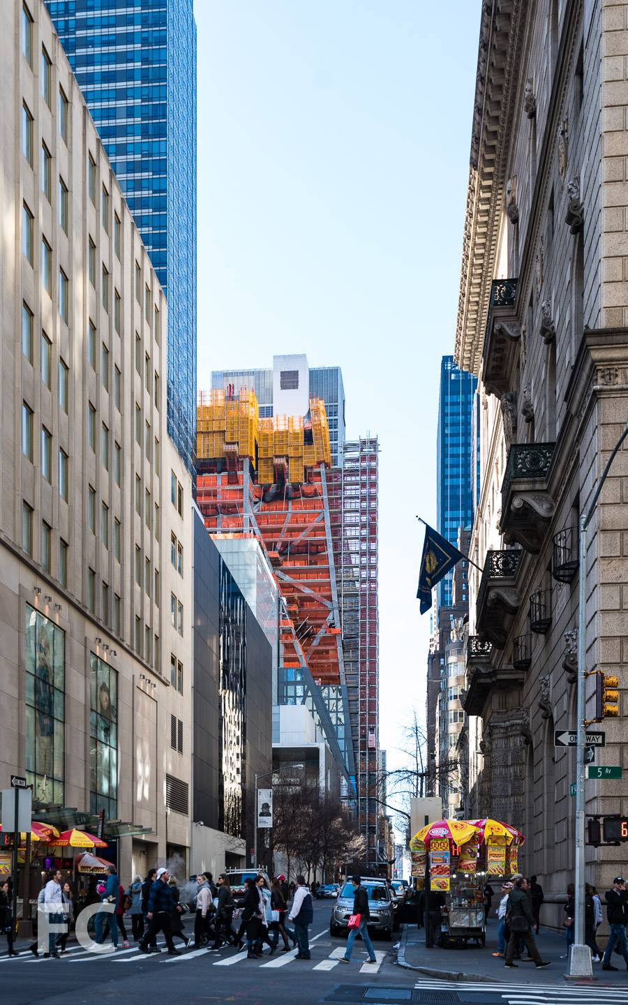 Looking west along East 54th Street.