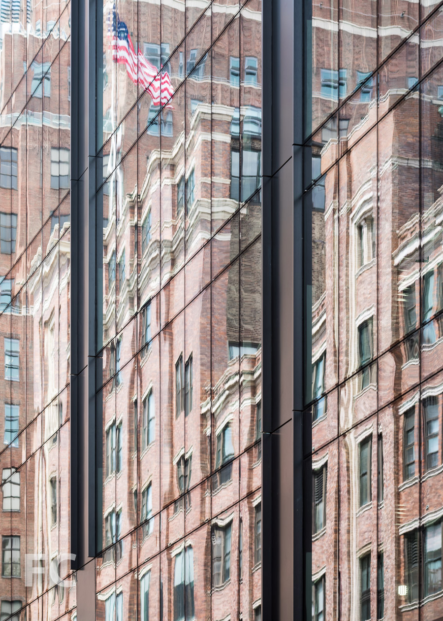 Close-up of the north façade of 412 W 15.