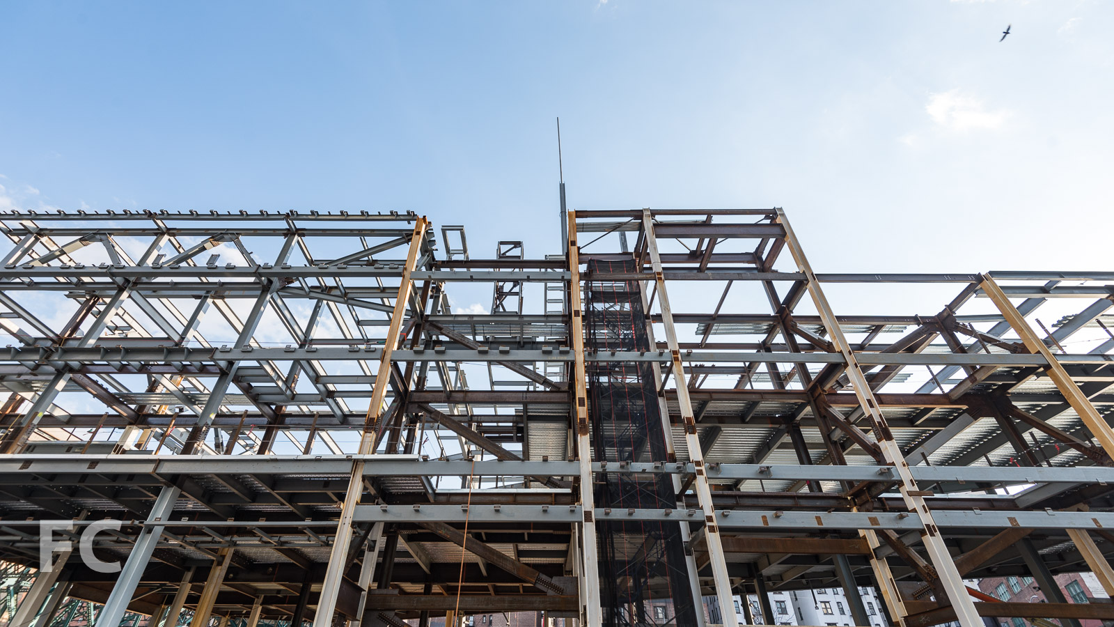 Steel superstructure of the Academic Conference Center.