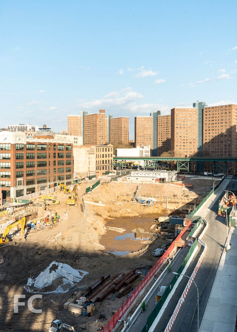 Construction site of the future Business School.