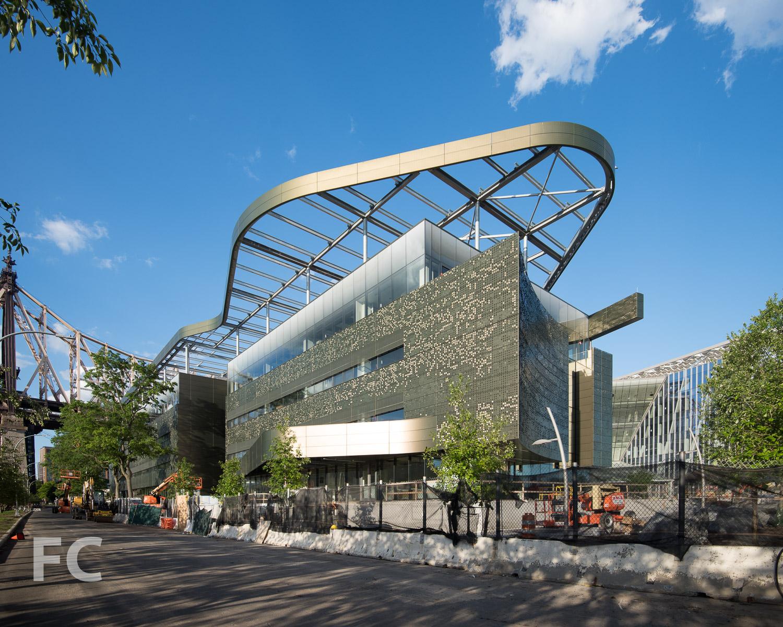 Southwest corner of The Bloomberg Center.