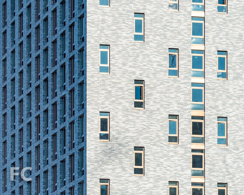 Close-up of the northwest façade.