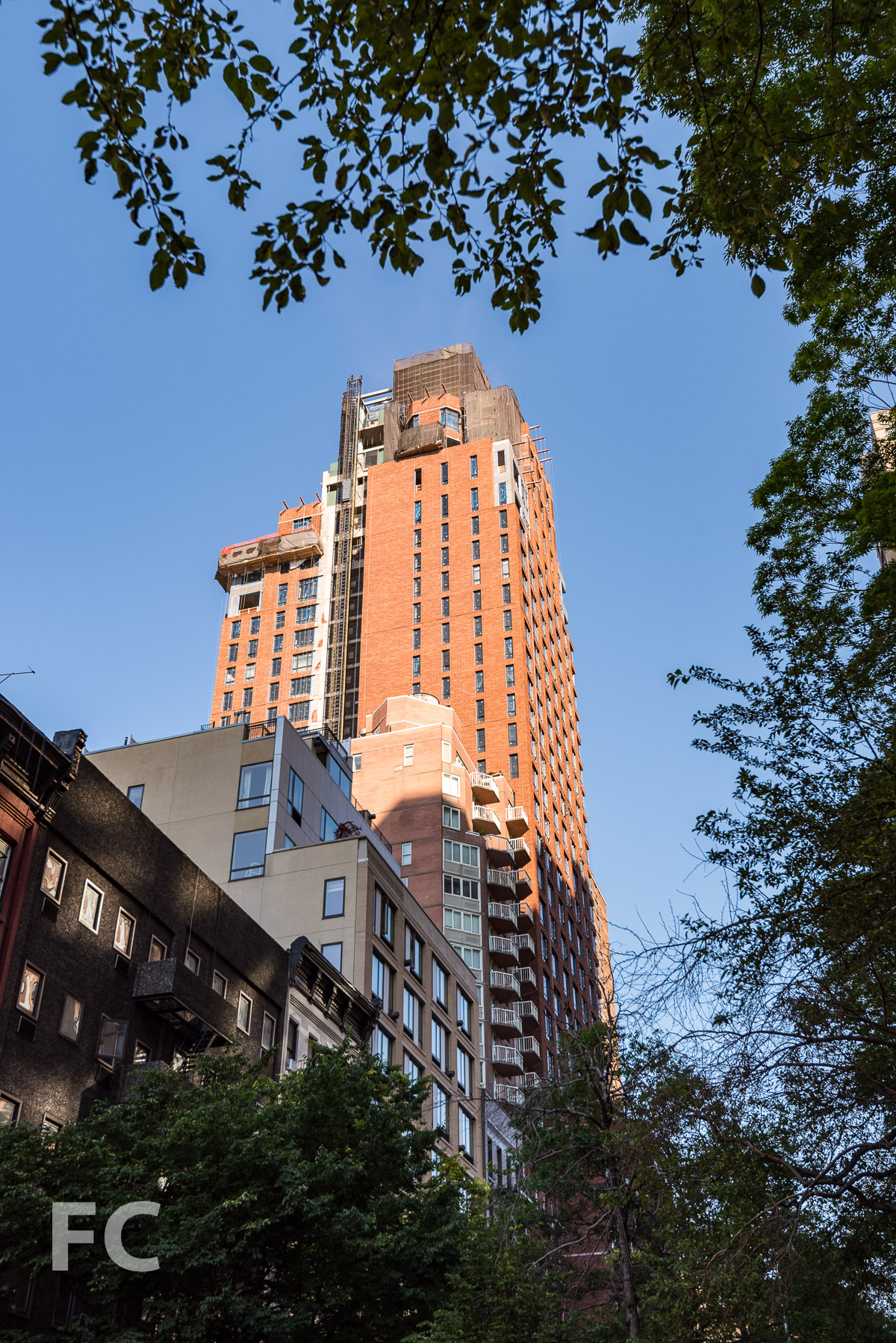 East façade from East 95th Street.