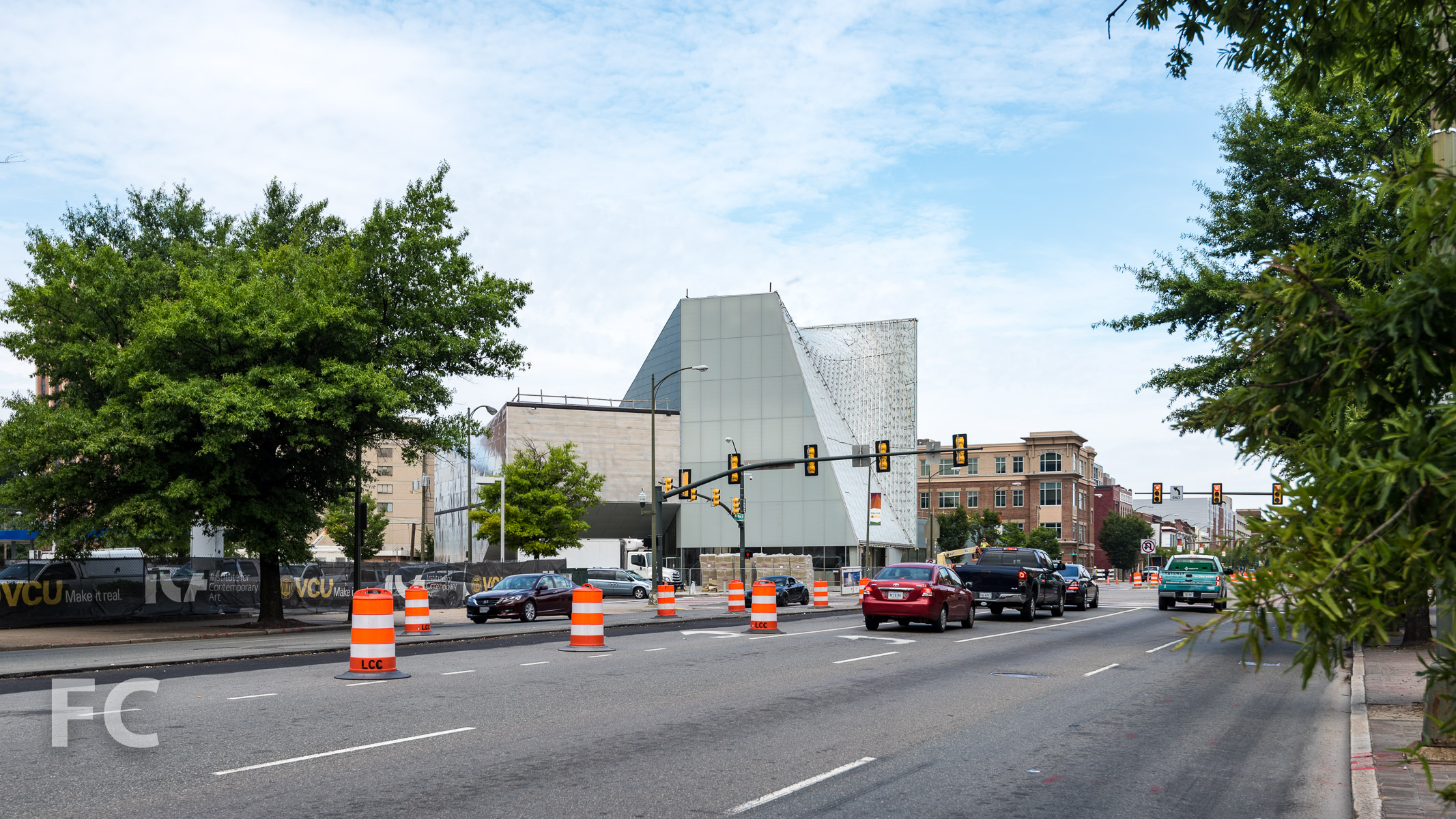 Southeast corner from West Broad Street.
