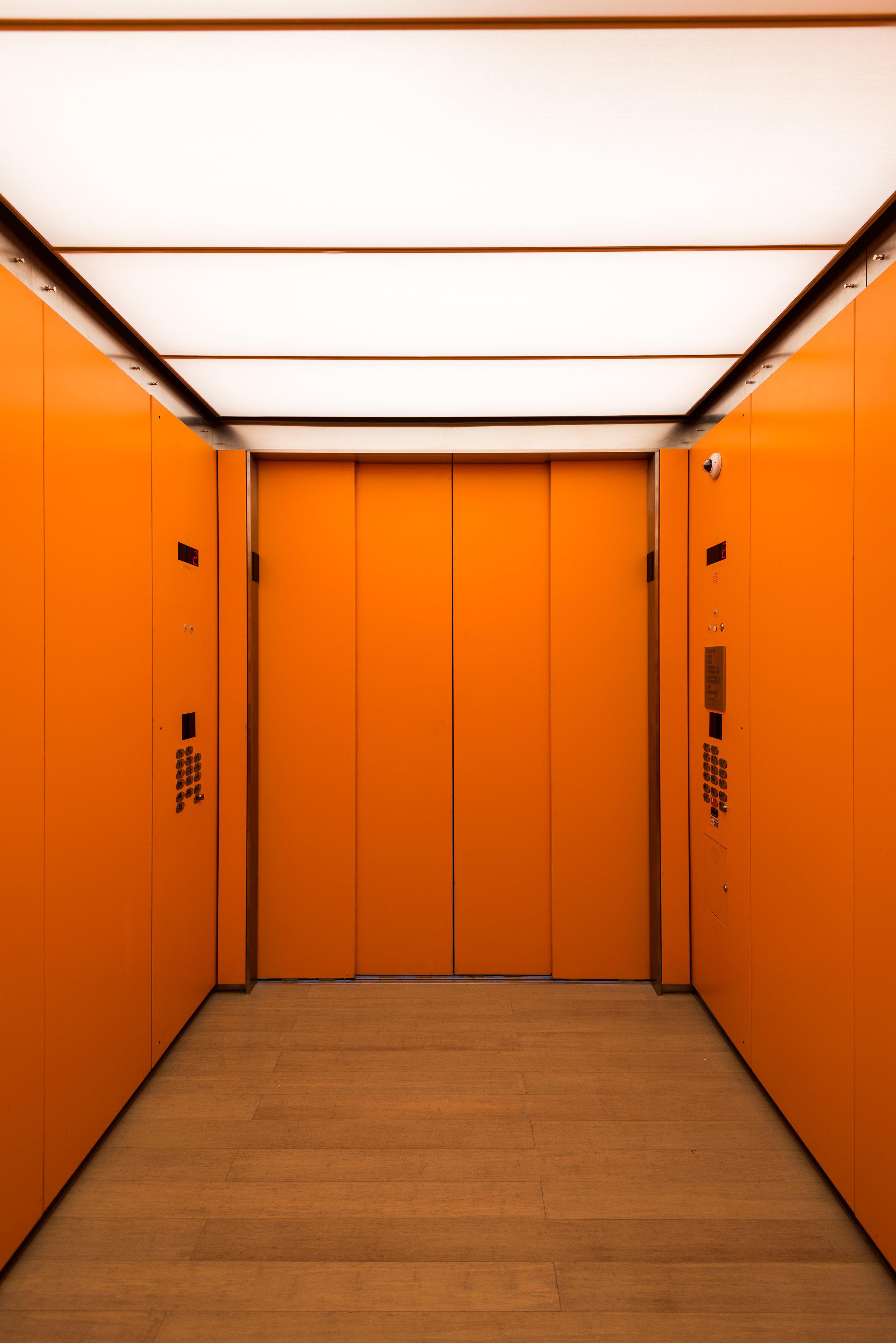 Elevator cab.